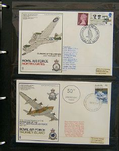 British Flown Covers Album - RAF Museum - 40 Different Covers - 1970s